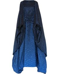 Zac Posen Embroidered Ombré Dolman Sleeve Gown - Blue