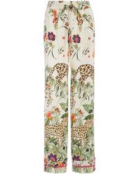RED Valentino Silk Printed Pyjama Trousers - Multicolour