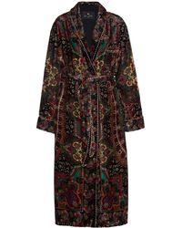 Etro Floral Jacquard Robe - Black