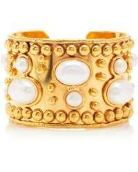 Sylvia Toledano Manchette And Wonder Byzance Gold-plated And Pearl Cuf - White