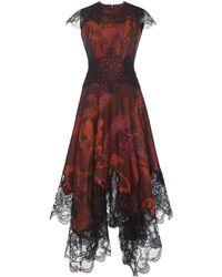 Costarellos Lace-trimmed Paisley-print Cotton-blend Midi Dress - Multicolour