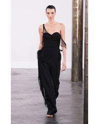 Gabriela Hearst Jocasta Macrame-detailed Wool-blend Jumpsuit - Black