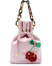 Edie Parker - Shorty Embroidered Satin Bag - Lyst