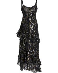 Dundas Ruffled Metallic Fil Coupé Chiffon Maxi Dress - Black