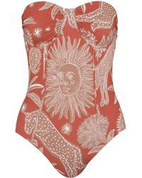 Johanna Ortiz Kaskaskia Printed Strapless One-piece Swimsuit - Multicolour