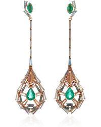 Nak Armstrong Pendulum Earrings - Green