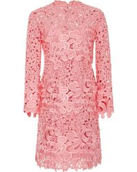 Ermanno Scervino - Embroidered Lace Cutout Dress - Lyst