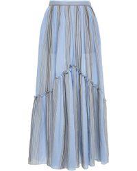 Three Graces London - Leila Striped Cotton Maxi Skirt - Lyst