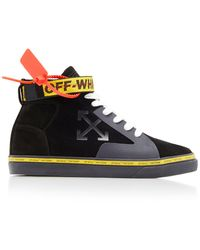 Off-White c/o Virgil Abloh Vulc High-top Skate Sneakers - Black