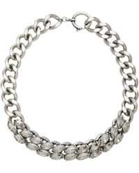 Isabel Marant | The Embrace Silver-tone Crystal Necklace | Lyst