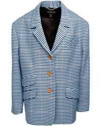 ANOUKI - Wool Blend Checkered Jacket - Lyst