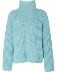 Vince Wool-blend Turtleneck Sweater - Blue