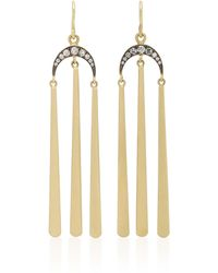 Sylva & Cie - 18k Gold Diamond Tasseled Earrings - Lyst