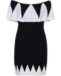 Victor Glemaud Geo Off Shoulder Mini Dress - Black