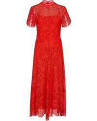 Proenza Schouler - Mock-neck Lace Midi Dress - Lyst