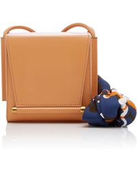 ROKSANDA - Box Leather Bag With Printed Silk Scarf - Lyst