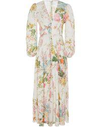Zimmermann - Heathers Floral Linen Maxi Dress - Lyst