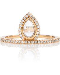 Eva Fehren Mini Gatsby 18k Gold And Diamond Ring - Pink