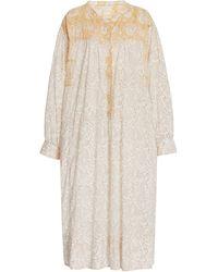 Hannah Artwear Cabarita Printed Cotton Shirt Dress - Natural