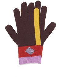 Missoni Striped Wool-blend Gloves - Brown
