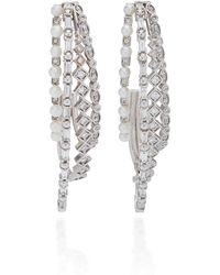 Colette - Mesh 18k White Gold Ear Cuff - Lyst