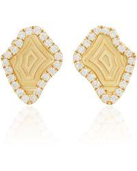 Kimberly Mcdonald - Agate Pattern Stud Earrings - Lyst