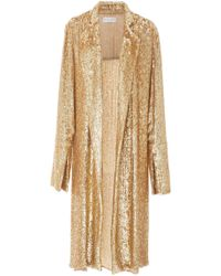 Caroline Constas Jade Regal Robe - Metallic
