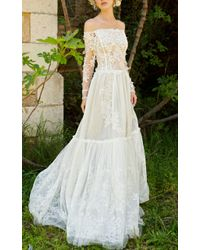 Costarellos Bridal - Lace Off-the-shoulder Gown - Lyst