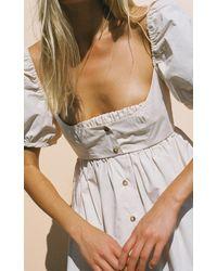 Ciao Lucia Diana Button-detailed Cotton Mini Dress - White
