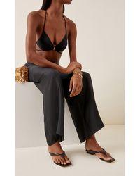 Cult Gaia Jasie Leather Sandals - Black
