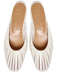Flattered Millie Leather Mules - White