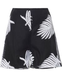 SemSem - Palm Embroidered Shorts - Lyst