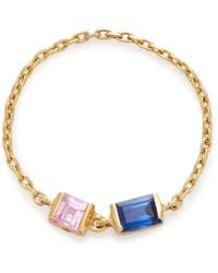 Yi Collection - 18k Gold Sapphire Chain Ring - Lyst