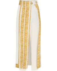 RAISA & VANESSA Printed Trousers With Skirt - White