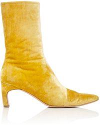 Rosetta Getty Velvet Heeled Boot - Yellow