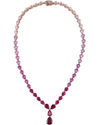 Anabela Chan Nova 18k Rose Gold Multi-stone Necklace - Pink