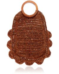 Kayu Binah Woven Straw Tote - Orange