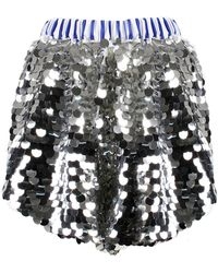 ANOUKI - Sparkly Sequin Shorts - Lyst
