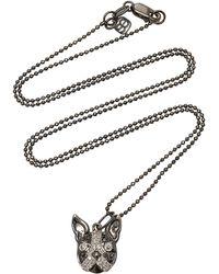 "Sydney Evan - Pave Boston Terrier Charm 16"" Necklace - Lyst"