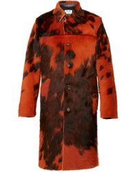 Acne Studios Laius Fur Coat - Orange