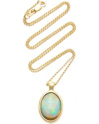 Pamela Love One Of A Kind 18k Gold And Opal Scarab Necklace - White