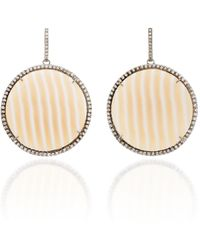 Kimberly Mcdonald One-of-a-kind Striped Chalcedony Discs - Multicolor