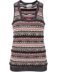 Carven - Sleeveless Cotton-blend Sweater - Lyst