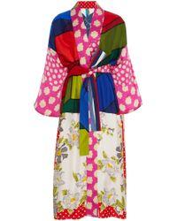 Rianna + Nina - Exclusive Printed Silk-satin Kimono - Lyst