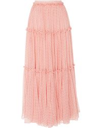 Costarellos - Long Tiered Skirt - Lyst
