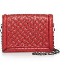 Bottega Veneta - Mini Montebello Microstud Leather Shoulder Bag - Lyst