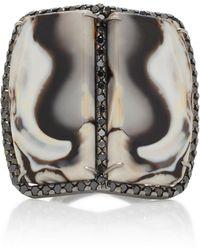 Kimberly Mcdonald - 18k Gold, Opal, And Black Diamond Ring - Lyst