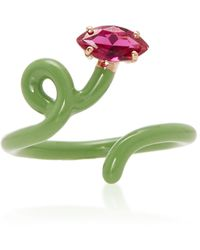 Bea Bongiasca Baby Vine Tendril Ring - Green