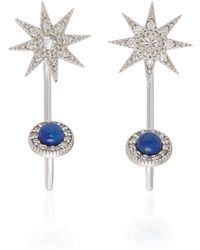Colette - Halley 18k Gold And Diamond Earrings - Lyst