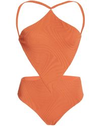 F E L L A. Sabath Cutout One-piece Swimsuit - Orange